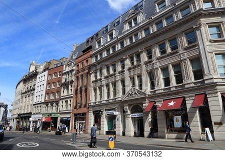 London, Uk - July 6, 2016: People Walk In Eastcheap, London, Uk. London Is The Most Populous City In