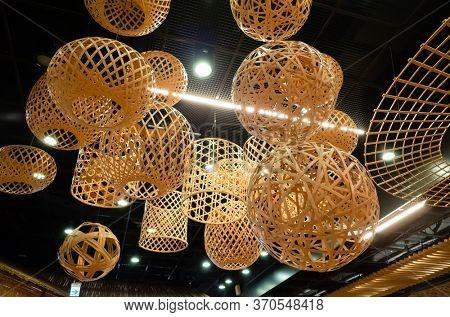 Nantou, Taiwan - Jan 9th, 2020: famous attraction of the museum of bamboo art at Nantou, Taiwan