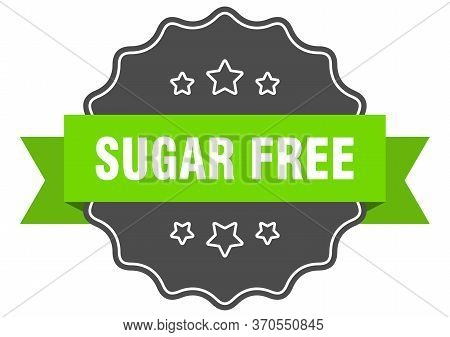 Sugar Free Isolated Seal. Sugar Free Green Label. Sugar Free