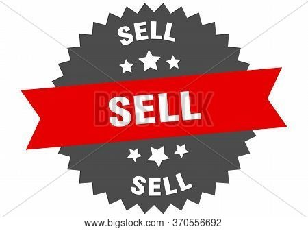 Sell Sign. Sell Circular Band Label. Round Sell Sticker