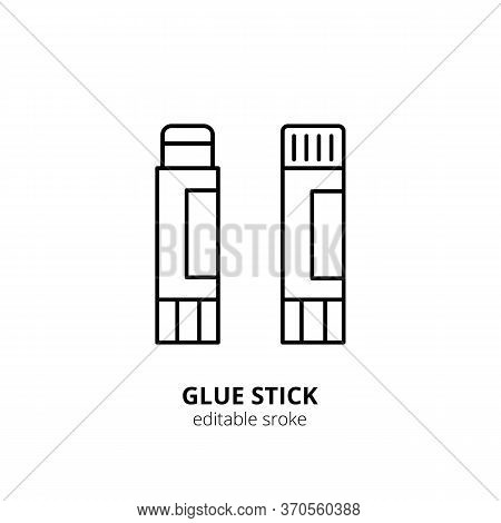Glue Stick Icon. Glue Silhouette Icon Isolated On Background. Flat Vector For Web And Mobile Applica