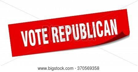 Vote Republican Sticker. Vote Republican Square Sign. Vote Republican. Peeler