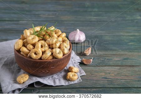 Tarallini And Taralli Biscuits Assortment, Rosemary, Garlic