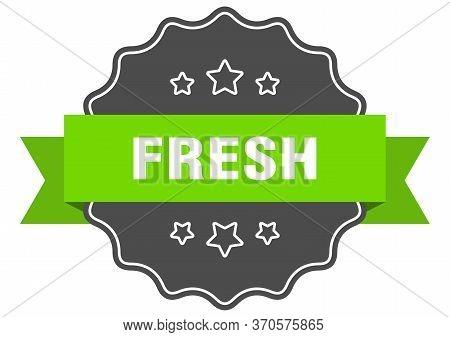 Fresh Isolated Seal. Fresh Green Label. Fresh