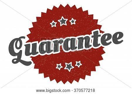 Guarantee Sign. Guarantee Round Vintage Retro Label. Guarantee