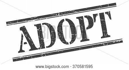 Adopt Stamp. Adopt Square Grunge Sign. Adopt