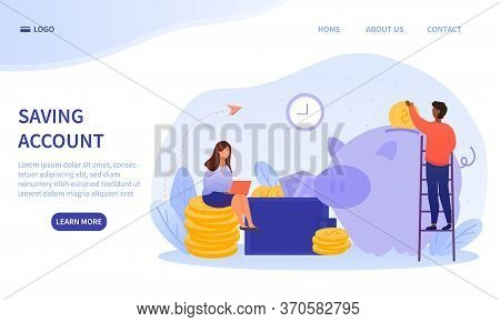 Money, Finances And Savings Account Concept With A Multiracial Couple With The Woman Seated On Stack