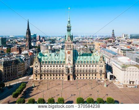Hamburg City Hall Or Hamburger Rathaus Is The Seat Of Local Government Of Hamburg, Germany