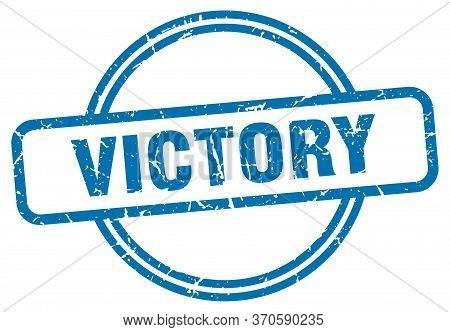 Victory Stamp. Victory Round Vintage Grunge Sign. Victory