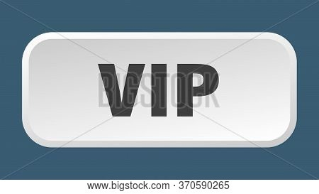 Vip Button. Vip Square 3d Push Button