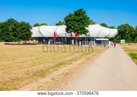 Koblenz, Germany - June 27, 2018: Cable Car Station At The Ehrenbreitstein Fortress In Koblenz Town