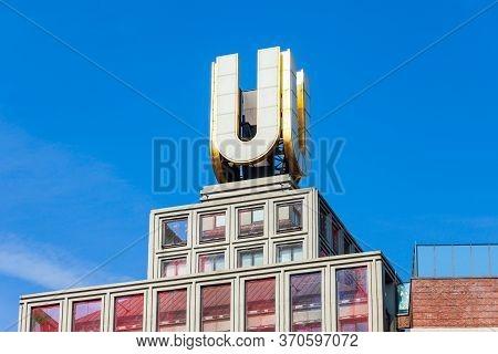 Dortmund, Germany - July 04, 2018: U-tower Or Dortmunder U Was Brewery Building, Now Center Of Arts