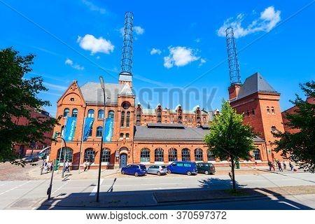 Hamburg, Germany - July 07, 2018: Hafencity Info Center In The Boiler House Im Hamburg, Germany