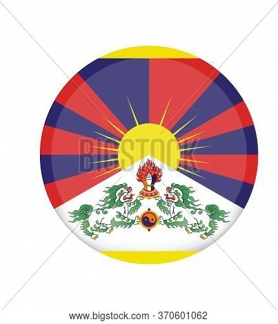 National Tibet Flag, Official Colors And Proportion Correctly. National Tibet Flag. Vector Illustrat