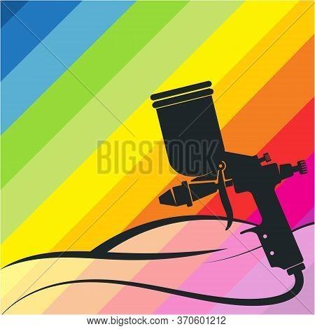 Auto Painting Garage Spray Gun Color Paint Design