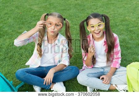 Enjoying Playtime. Back To School. Literature For Girls. Do Homework Together. Find Something Intere