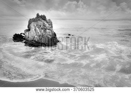 Rock Formation In The Sea In Jericoacoara, In Ceara, Northeastern Brazil - Tourist Destinations In B