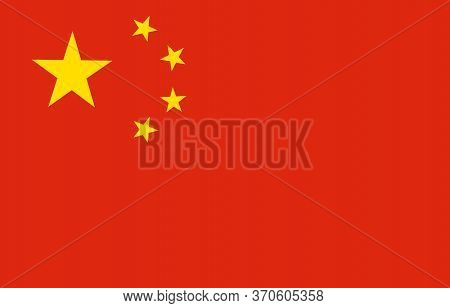 China Flag, Official Colors And Proportion Correctly. National China Flag. Vector Illustration. Eps1