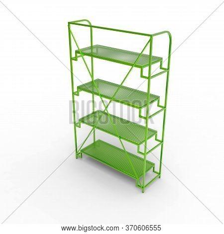 3d Image Of Color Metal Shelving Shelf 05