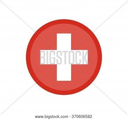 National Flag Switzerland. Switzerland Flag, Official Colors. National Switzerland Flag. Flat Vector