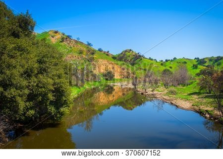 River In Malibu Creek State Park In The Santa Monica Mountains In Spring 2019