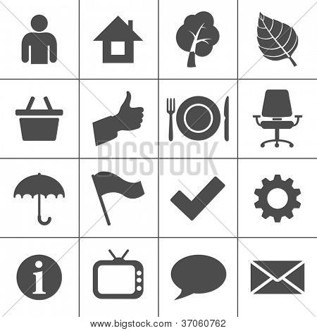 Web icons. Simplus series - Services icons