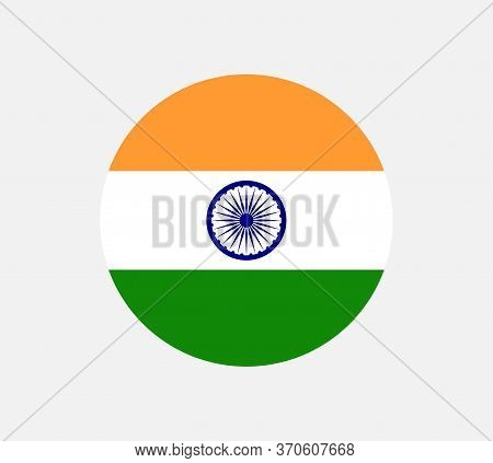 Illustration Of The Flag Of India Shaped Like A Heart. India Flag, Official Colors And Proportion Co