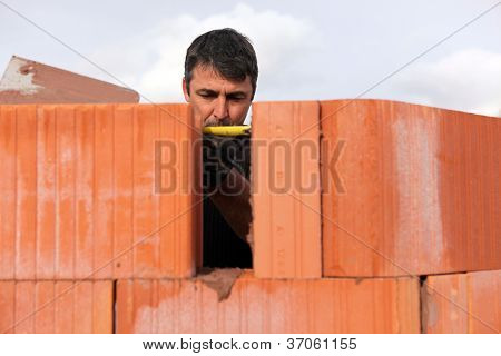An assiduous bricklayer