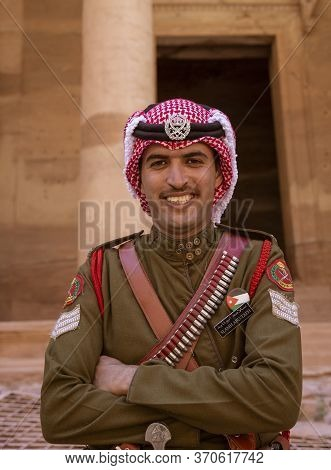 Petra, Jordan - 2019-04-21 - Friendly Jordanian Guard Keeps The Peace In Petra.