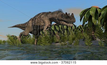 hunting cerantosaurus