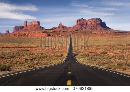 Forrest Gump Point, Red Rock At Monument Valley, Navajo Tribal Park, Arizona Usa
