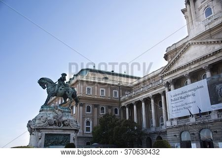 Archduke Joseph Of Hungary Sculpture Of Budapest Castle Hill Funicular Or Buda Castle Royal Palace F