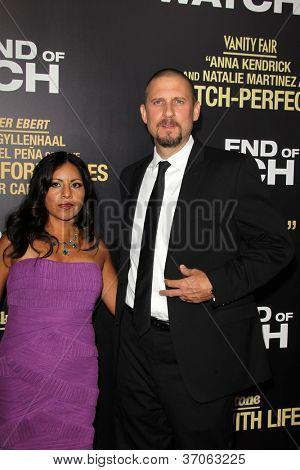 LOS ANGELES - SEP 17:  Maria Ayer, David Ayer arrives at the