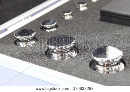 Set Of Standard Weight In Box For Calibration Process ; Quality Control Lab