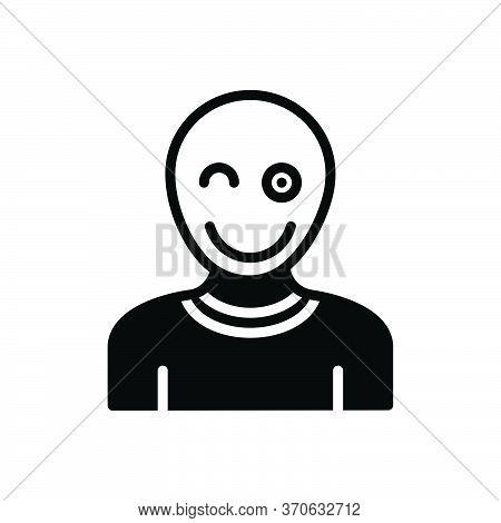 Black Solid Icon For Fun Mockery Banter Jest Snickers Mot Epigram Entertainment Amusement