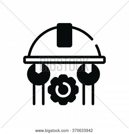 Black Solid Icon For Engineer Tool Machinist Manipulator Appliance
