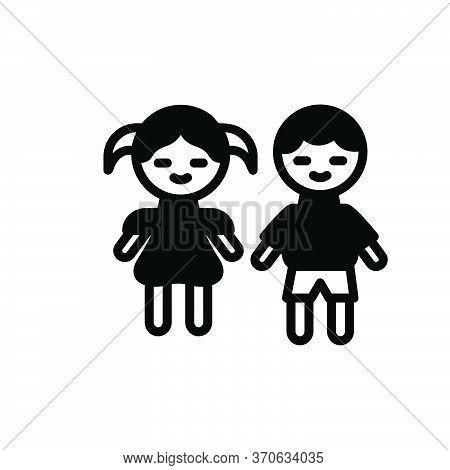 Black Solid Icon For Kids Children Kids Brood Progeny Baby