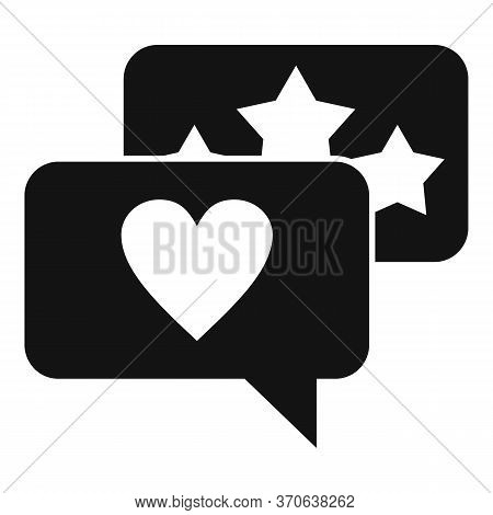 Engaging Chat Content Icon. Simple Illustration Of Engaging Chat Content Vector Icon For Web Design