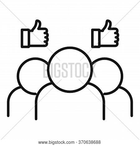 Group Engaging Content Icon. Outline Group Engaging Content Vector Icon For Web Design Isolated On W