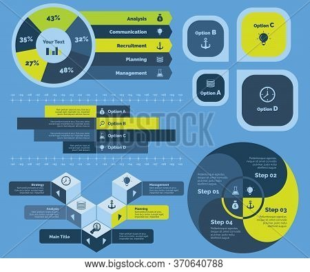 Steps To Successful Business Diagram. Business Data. Concept For Infographic, Various Business Templ