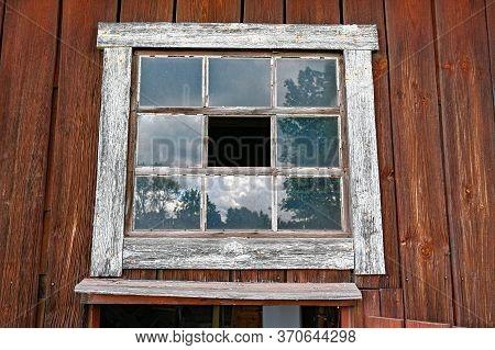 Old Barn With Broken Window In Kumla Sweden