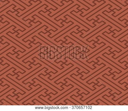 Japanese Style Retro Vintage Seamless Pattern Background Spiral Polygon Geometry Spiral Cross Tracer