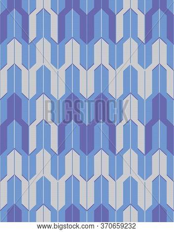 Japanese Style Retro Vintage Seamless Pattern Background Blue Geometry Polygon Croaa Arrow Wave Kale