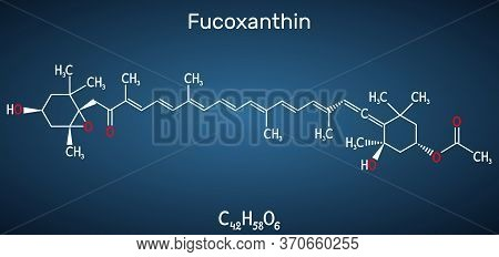 Fucoxanthin, C42h58o6, Xanthophyll Molecule. It Has Anticancer, Anti-diabetic, Anti-oxidative, Neuro