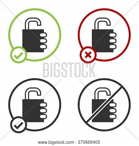 Black Safe Combination Lock Icon Isolated On White Background. Combination Padlock. Security, Safety