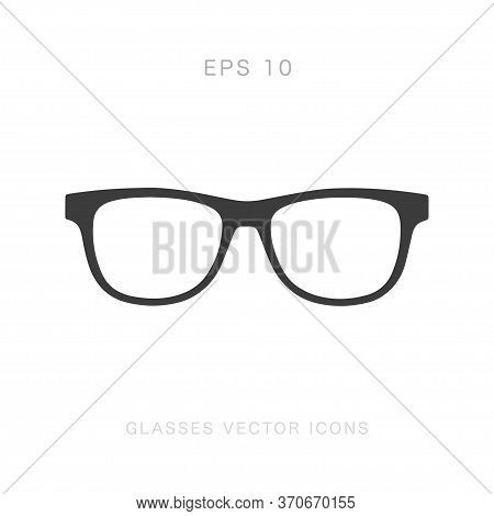 Glasses Vector Icon Isolated On White Background. Vector Illustration.
