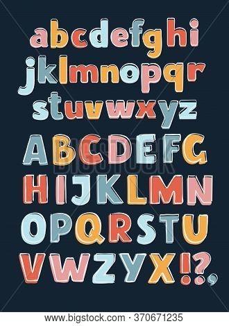 Alphabet A-z Outline Color. English Alphabet A-z Outline Color