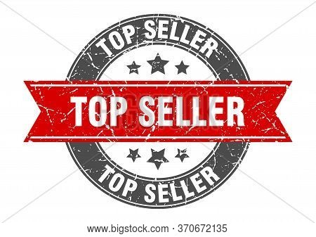 Top Seller Round Stamp With Red Ribbon. Top Seller
