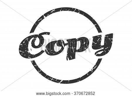 Copy Sign. Copy Round Vintage Grunge Stamp. Copy