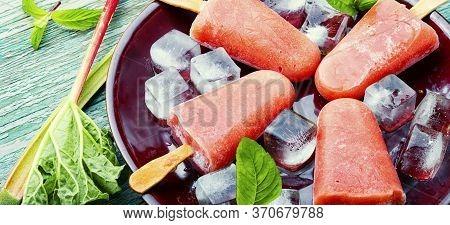 Rhubarb Vegetarian Ice Cream